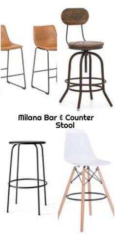 "Milana Bar & Counter Stool , Williston Forge Milana 25.5"" Bar Stool & Reviews   Wayfair... ,  #bar #Counter #Milana #Stool Rattan, Wicker, 5 Bar, Counter Bar Stools, Mid-century Modern, Chrome, Charlotte Perriand, Mid Century, The Originals"