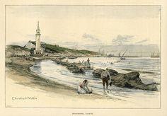 ZANTE . Seashore by Charles W. Wyllie,  1892 Dario Fo, Greece Pictures, Giorgio Vasari, John Cage, 1 John, Vintage Pictures, Paris Skyline, Gallery, Painting