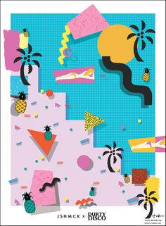 jshmck: I was commissioned to produce a large A0 sized piece of work to be displayed at Durty Disco, Falmouth on Friday following the theme of the night which is tropical.