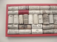Wine cork bulletin board - long and skinny - by Lolailo