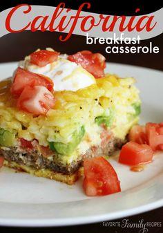 California Breakfast Casserole - I've gotta try this ASAP!