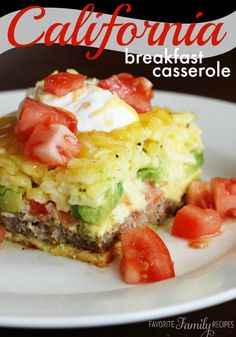 California Breakfast Casserole - I've gotta try this ASAP!