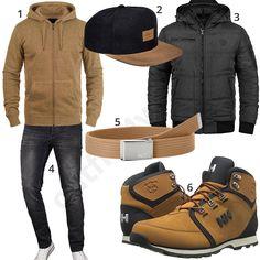 Beige-Schwarzer Herren-Style mit Zip-Hoodie und Cap (m0920) #hoodie #cap #stiefel #boots #jeans #outfit #style #herrenmode #männermode #fashion #menswear #herren #männer #mode #menstyle #mensfashion #menswear #inspiration #cloth #ootd #herrenoutfit #männeroutfit