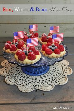 Mr and Mrs P: Red, White and Blue Mini Pies