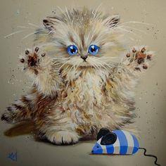 С добрым утром! И прекрасных вам выходных!!! Котики от Ким Хаскинс - Art Gallery - Google+