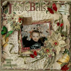 ***Swirlydoos** Jingle Bell Cutie - Scrapbook.com --this is gorgeous, but out of my league for sure