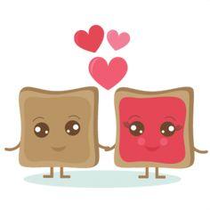 Daily Freebie 2-12-14: Miss Kate's Cuttables PB & J Love SVG cut out files valentine svg cut files valentine svg cuts cute clipart