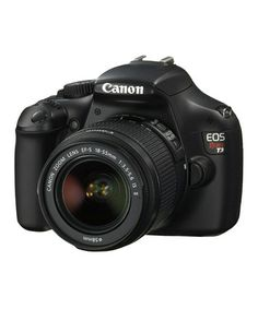 $100 off the professional Rebel T3 SLR Camera on Canon on #zulily today! Merry Christmas to me!!