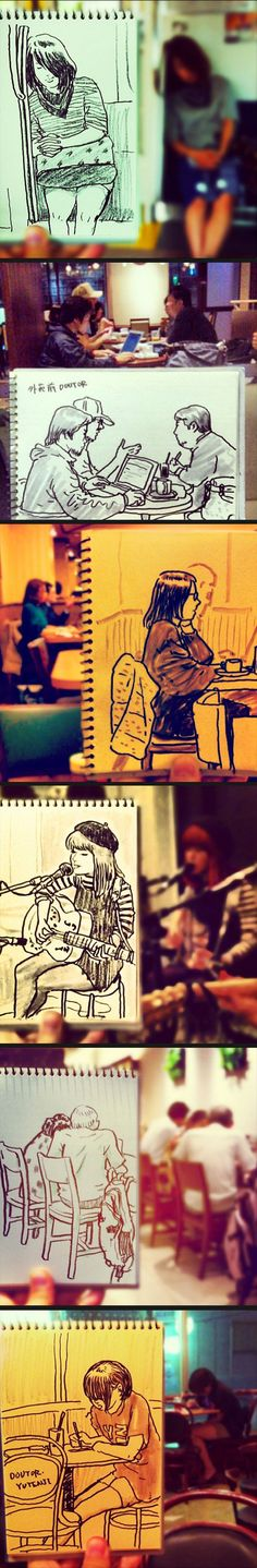Everyday scenes turned into speed sketches