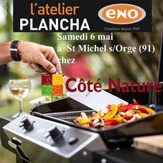Atelier Plancha ENO samedi 6 mai chez Coté Nature à Saint Michel sur Orge (91) - Cours de cuisine à la plancha avec un chef pour apprendre à cuisiner sur la Plancha ENO. Conseils et astuces de cuisson et de nettoyage. Cours de cuisine sur réservation auprès du magasin au 01 64 49 58 85