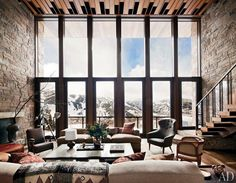 Modern rustic living area