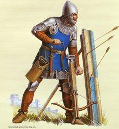 1300 - 1399  Ballestero italiano italian crossbow man