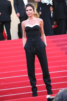 12 best jumpsuits for the summer: Victoria Beckham dresses it up by opting for a classic tuxedo look.