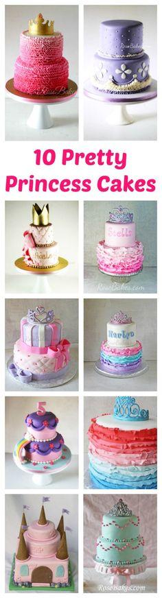 10 Pretty Princess Cakes by RoseBakes.com