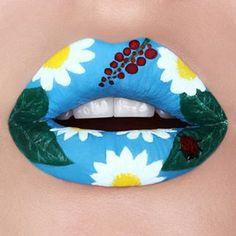De jolis motifs pour les lèvres.   18 looks à tenter pour changer un peu votre routine