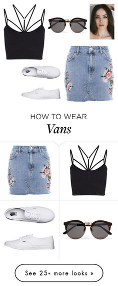 """Bez naslova #2192"" by selia-101 on Polyvore featuring Topshop, Sweaty Betty, Vans and Illesteva"