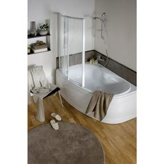 baignoire jacana 150 x 90cm en toplax® - ALLIBERT Sweet Home, New Homes, Bathtub, Deco, Bathroom, Magic, Design, Plumbing, Bath
