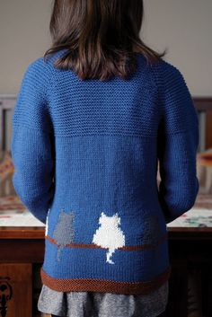 Window Cat Child's Cardigan from Love of Knitting Winter 2016 | Knitting Daily