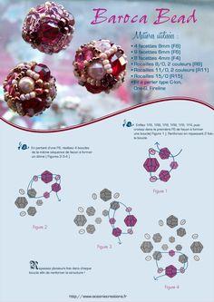 Beautiful bead free tutorial by diagram
