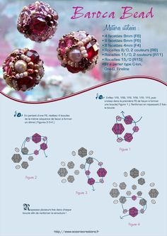 pattern  NooN beaded jewellery: baroca bead