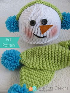 This cute little Snowman Set will look adorable on your little one. Easy to knit. Would make a wonderful gift and great photography prop