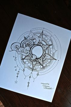Sun and Moon Print by MorgansCanvas on Etsy                                                                                                                                                                                 Mais