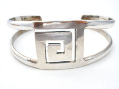Cuff Bracelet Mexican Sterling Vintage by TheJewelryLadysStore