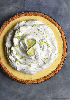 This Key Lime Pie Recipe is made with fresh lime juice and a graham cracker crust. Sweet Desserts, Just Desserts, Delicious Desserts, Yummy Food, Yummy Yummy, Delish, Tart Recipes, Sweet Recipes, Cooking Recipes