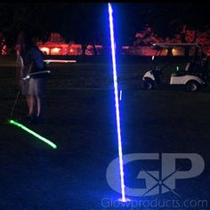 - ft Lighted LED Flag Sticks for Glow Night Golf! - 3 Modes: Fast Flash, Blinking & Steady Light - Batteries are included and easy to replace! - Quickly light up holes and greens for Glow Golf! Golf Flag, Glow Party, Ball Lights, Glow Sticks, Flashlight, Color Change, Light Up, Led, Night