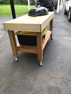 Kitchen Island Grill, Weber Charcoal Grill, Outdoor Grill Station, Flat Top Grill, Grill Cart, Microsoft, Diy Table Saw, Diy Grill, Diy Outdoor Kitchen