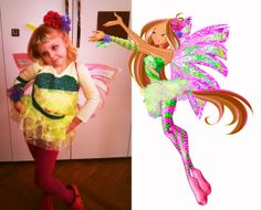 d4eef7e30c404 Flora Winx Club sirenix carneval dressing. Designer one piece production  size girl 5 years old