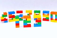 LEGO Brick Birthday Cake or Cupcake Topper  pick by LegoPartyShop
