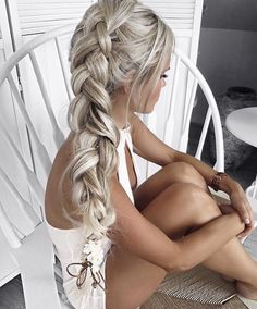 Image de girl, braid, and blonde