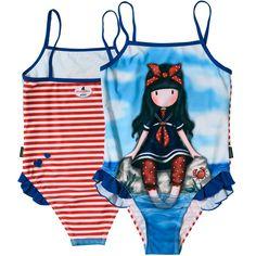 Costum baie intreg Santoro Gorjuss-Little Fishes Little Fish, Bikinis, Swimwear, Boutique, Retro, Leggings, Fashion, Swiming Pool, Costumes