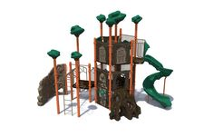 Playworld Systems.  really like the 3 level play treehouse and how compact it is.