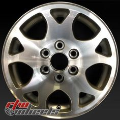 """Chevy Tahoe wheels for sale 2001-2006. 17"""" Machined rims 5117 - http://www.rtwwheels.com/store/shop/17-chevy-tahoe-wheels-oem-machined-silver-5117/"""