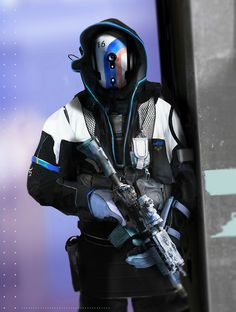 """Operator"" futuristic character design by digital artist Joseph Cross"