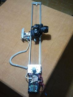 Picture of DIY motorized moving timelapse camera dolly with Arduino