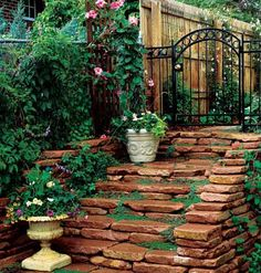 stacked stone steps