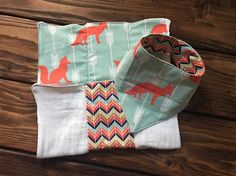 Bandana Dribble Bib and Burp Cloth Set