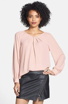 Long sleeve pleated neck blouse.  5 colors.  50% OFF right now!!!!  Great with jeans, slacks, or a pencil skirt!