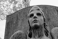 Original old cemetery statues photography by Herb Quick. Black and white photographic print of a Victorian era weeping cemetery angel monument. Suitable for punk and gothic home decor.  TITLE: Cemetery Angel MEDIUM: Fine Art Print (unframed) PAPER PRINT SIZES: 8x12, 16x24 METAL PRINT SIZES: 8x12, 16x24, 20x30 CANVAS WRAP SIZES: 8x12, 16x24, 20x30  Metal prints configured with wall float backing. Canvas wraps shipped with black gallery edge. Frames and mattes are are not included.  Contact…