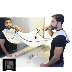 Beard Bib White - BEARD KING - 1 So glad this exists cause I'm buying this for him whether he likes it or not. #SharkTank