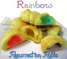 rainbow resurrection rolls for Easter