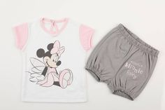 Minnie Mouse, Baby T Shirts, Shorts, Kids Fashion, Onesies, Clothes, Trousers, Cotton, Outfits