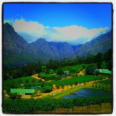 Stunning view from the wine farm Bartinney