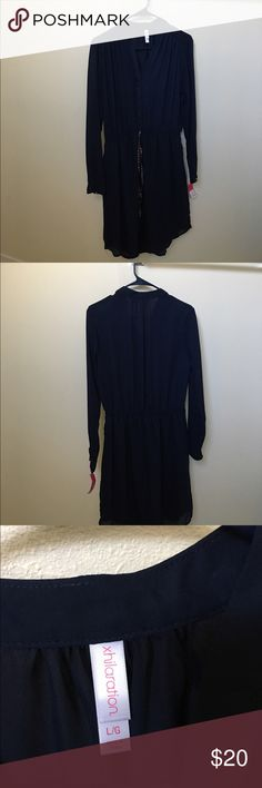 xhilaration blue dress size large Brand new with tags Xhilaration Dresses Long Sleeve