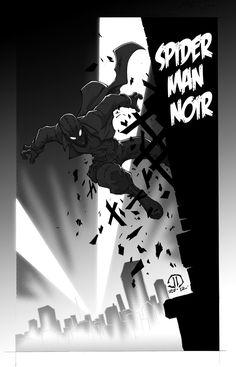 "herochan:  "" Spider-Man Noir - by Joey Vazquez  """