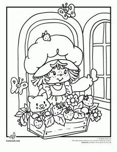 Classic  Strawberry Shortcake Coloring Page