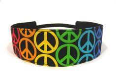 Headband for Girls - Peace Sign Rainbow